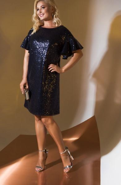 Коктейльное короткое вечернее платье 339