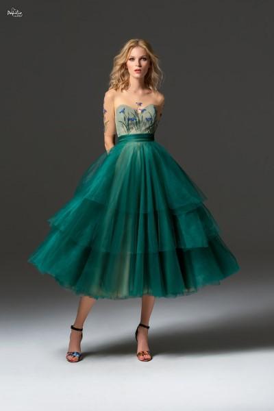 Коктейльное короткое вечернее платье 0346 papilio