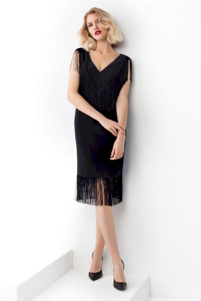 Коктейльное короткое вечернее платье 0382/01