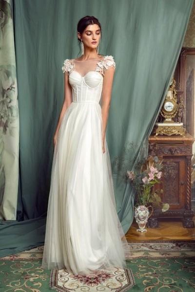 Свадебное платье с плечиками 0481B