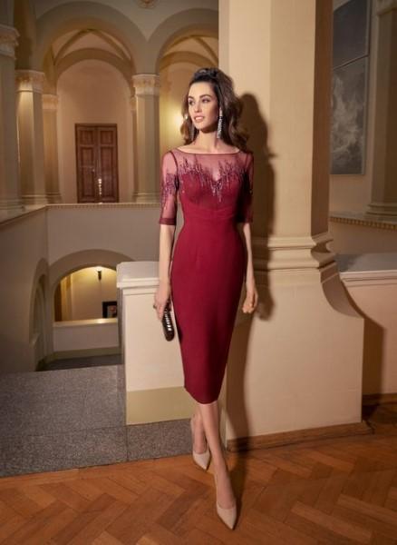 Вечернее платье пудрового цвета 0510