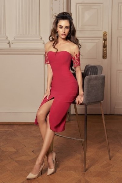 Вечернее платье  0514 (в наличии пудрового цвета)