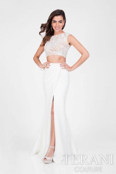 Длинное вечернее платье terani couture 2717