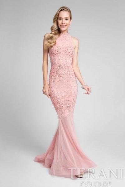 Длинное вечернее платье terani couture 2450