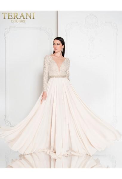Длинное вечернее платье terani couture 6650