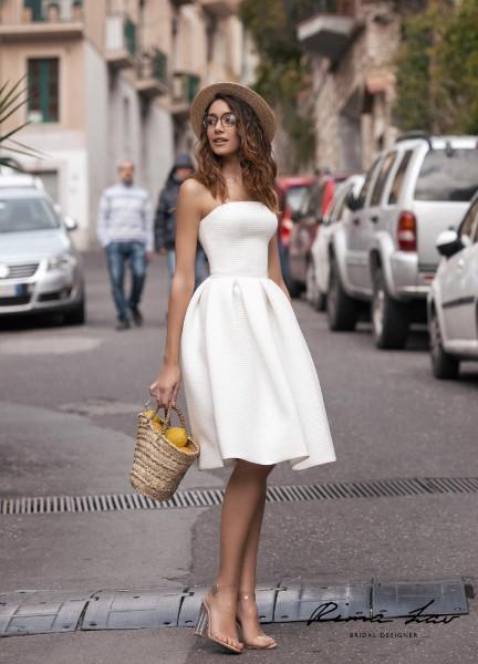 Короткое пышное свадебное платье Риз