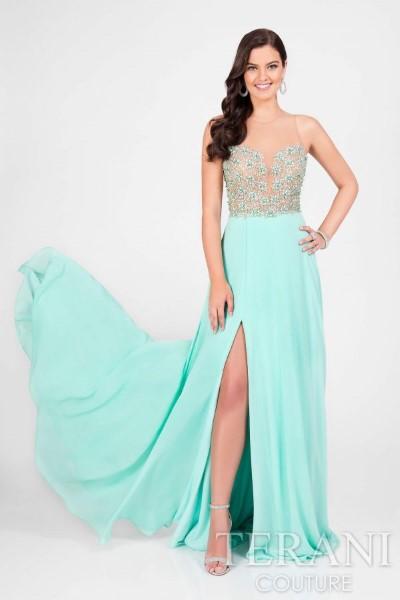 Длинное вечернее платье terani couture 2512