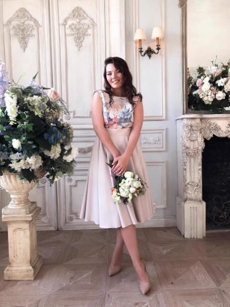 Короткое свадебное платье 5017