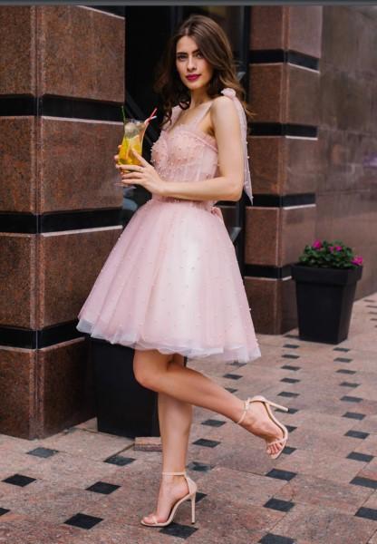 Короткое свадебное платье мила