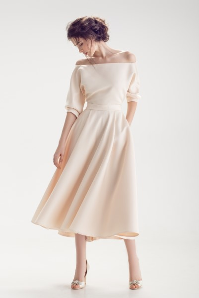 Свадебное платье Бэйли миди (Лаванда)