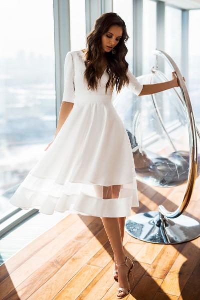 Короткое свадебное платье А-силуэт Алекса