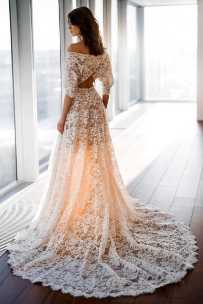 Кружевное свадебное платье Дженни