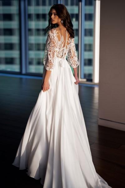 Свадебное платье кружевное с корсетом Шейла