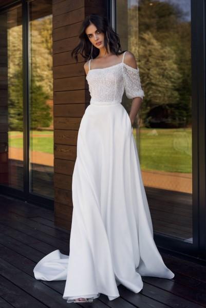 Необычное свадебное платье Вилма