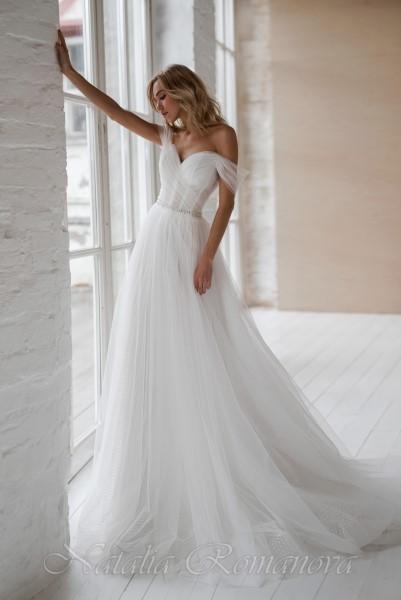 Легкое и нежное свадебное платье Франсуаза от Натальи Романовой