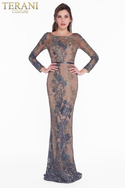 Длинное вечернее платье terani couture 7292