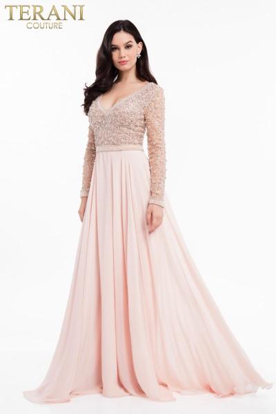 Длинное вечернее платье terani couture 7590