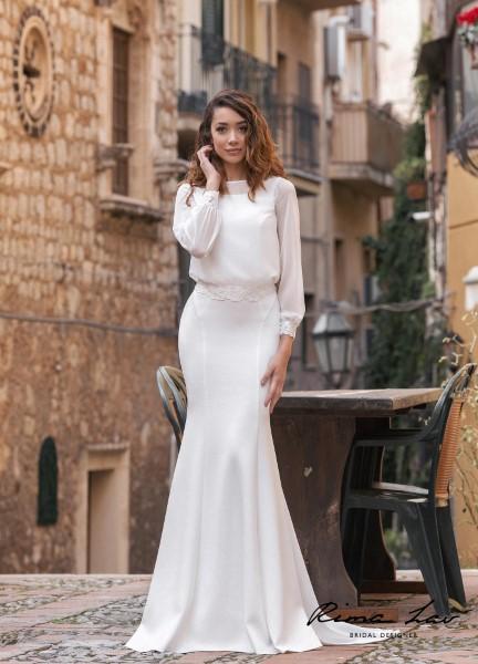 Прямое свадебное платье Тэрон Блуза