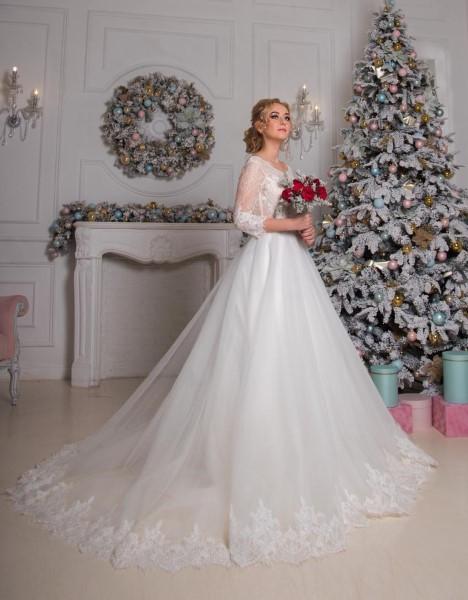Свадебное платье с кружевным корсетом афина new