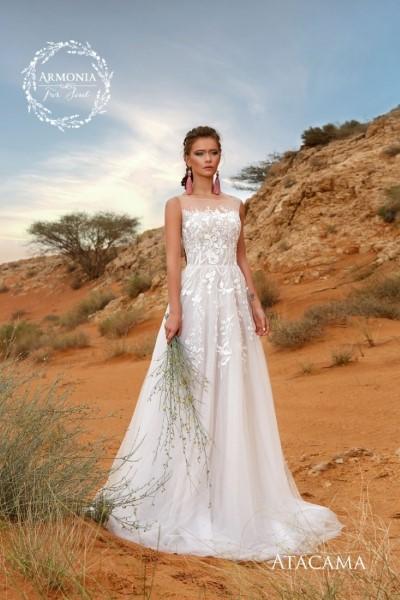 Свадебное платье с кружевным корсетом atacama