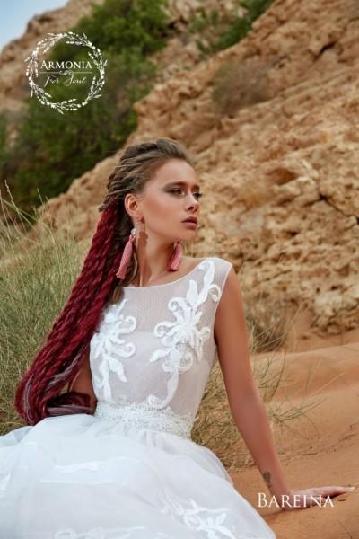 Свадебное платье с кружевным корсетом bareina