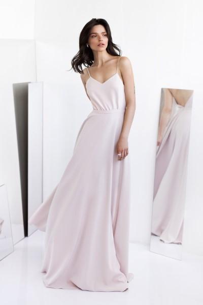 Длинное Пудровое Платье Alia