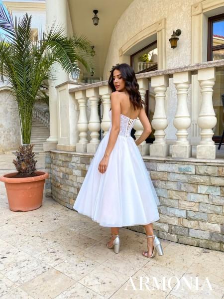 Свадебное платье миди Eva