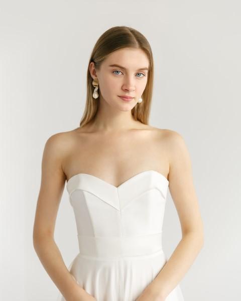 Свадебное платье Виви в молочном цвете