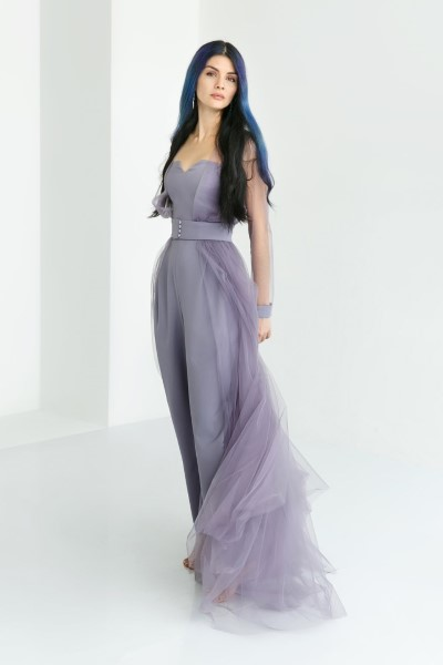 Вечернее платье 4817 Костюм цвета графит