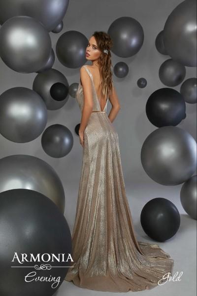 Платье на выпускной -  gold
