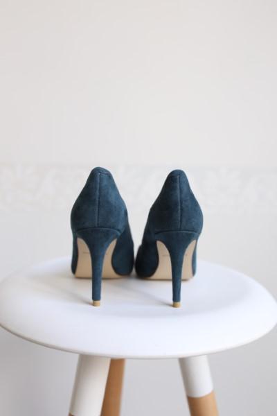 туфли-лодочка изумрудные