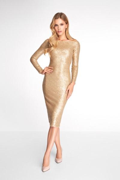 Женское платье 0346 EMSE золото