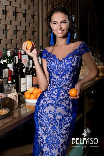 Коктейльное короткое вечернее платье жанин (синий, изумруд)