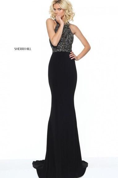 Длинное вечернее платье sherri hill 50912