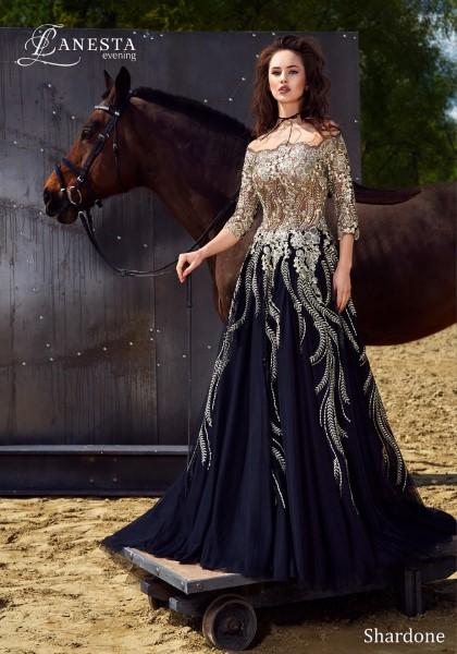 Длинное вечернее платье shardone