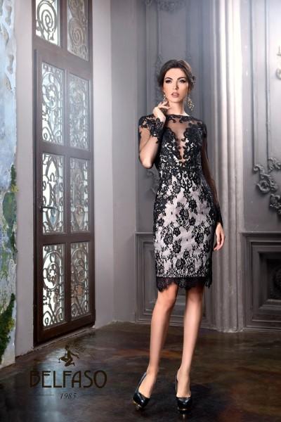 Коктейльное короткое вечернее платье latifa