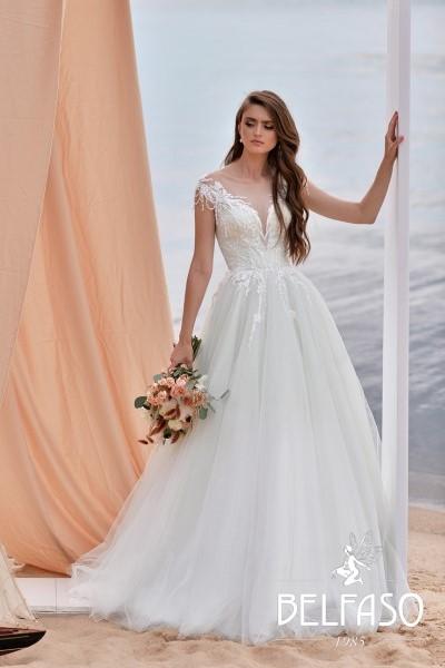 Кружевное Свадебное платье без рукавов Лилиан