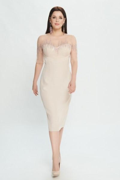 Вечернее бежевое платье Papilio 0510