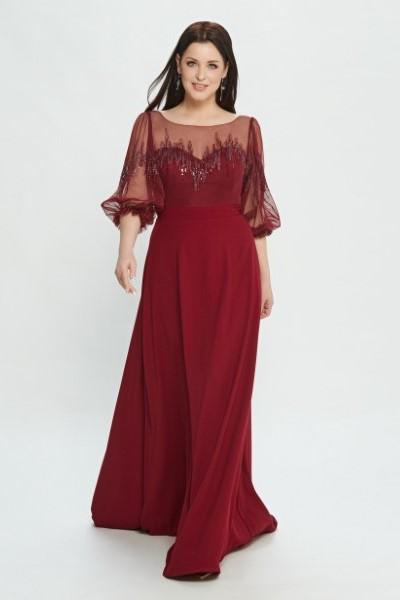 Вечернее платье в пол М0527 (в наличии пудрового цвета)