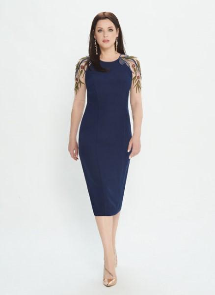 Женское платье лилового цвета М0538