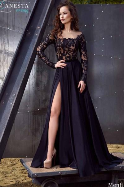 Длинное вечернее платье menfi