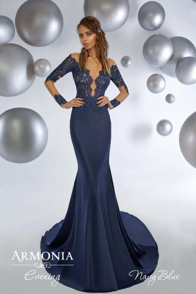 Длинное вечернее платье navy blue
