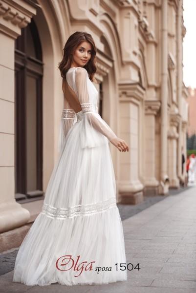 Свадебное платье А-Силуэта 1504 O.S.