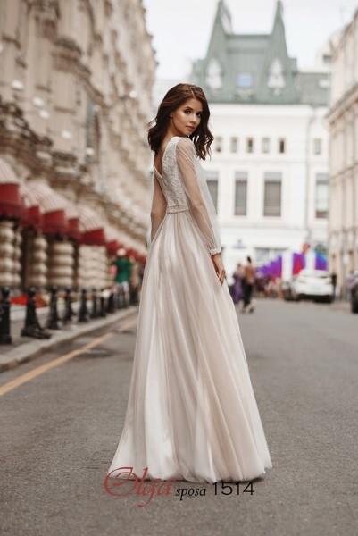 Свадебное платье с длинными рукавами 1514 O.S.