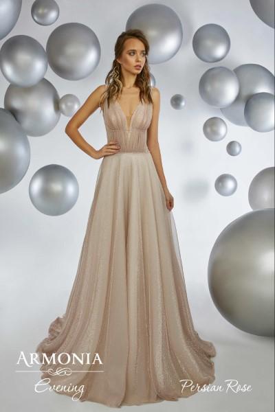Длинное вечернее платье persian rose