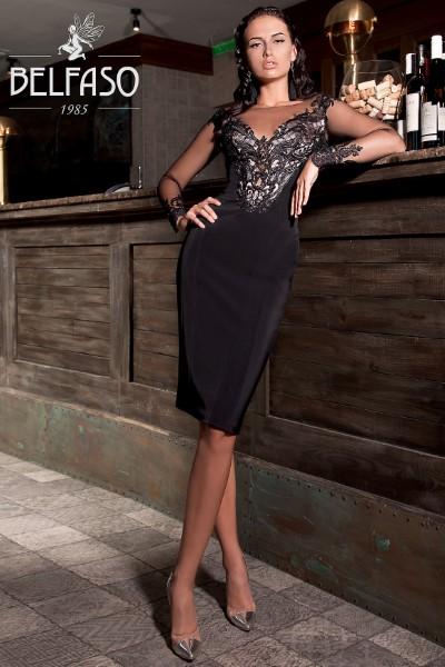 Элегантное вечернее платье Railin с длинным рукавом