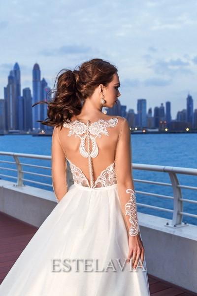 Свадебное платье с кружевным корсетом siena