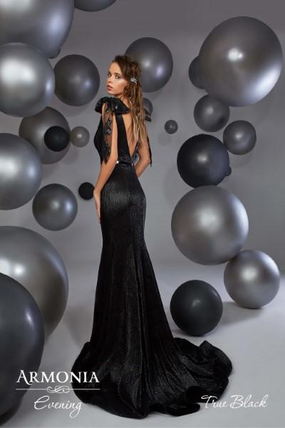 Длинное вечернее платье true black