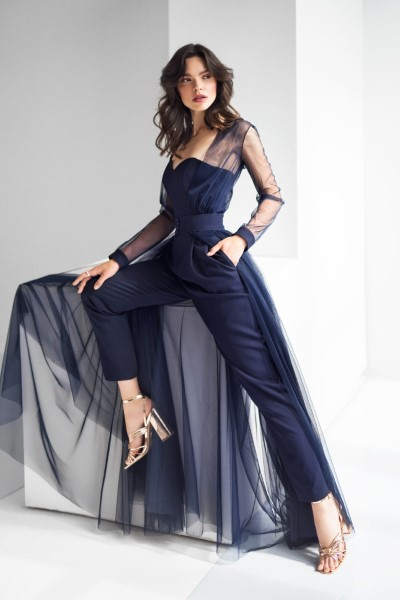 Платье на выпускной -  4817 костюм (синий)