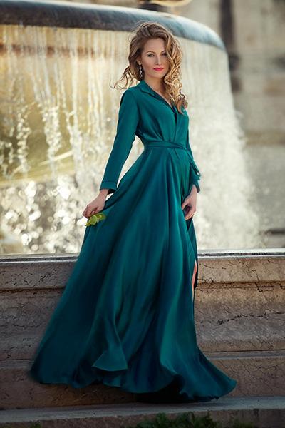 Длинное вечернее платье инди